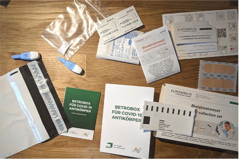 Ein Antikörpertestsetpuzzle